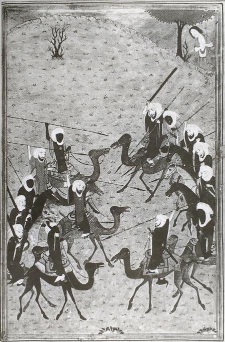 """Ilustração do ensaio """"A diaspora africana"""" na coleção da UNESCO - Batalha entre clãs"""